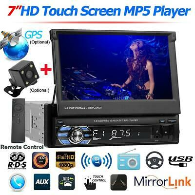 Car Stereo MP5 Player GPS navigation RDS FM Radio USB/TF/AUX +Camera 7in 1DIN