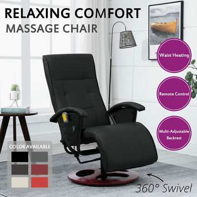 vidaXL Massage Chair with Foot Stool Remote Adjustable Armchair Multi Colours