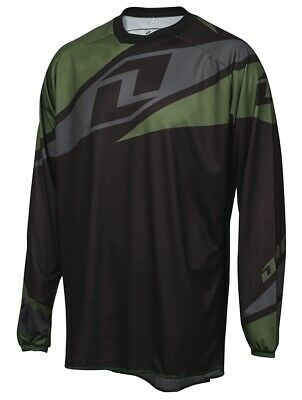 One Industries Atom Black Motocross Mx Mtb Bike Cycle Jersey Enduro