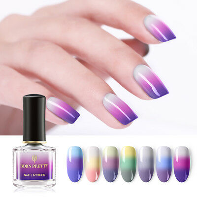 6ml  BORN PRETTY Color Changing Thermal Nail Polish 3Colors Manicure Varnish