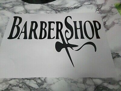 Barber shop vinyl sign  sticker decal  window wall any flat surface