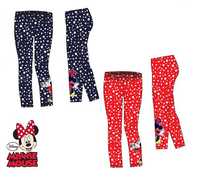 Girls Disney Minnie Mouse Leggings All Over Classic Dots On Leggings