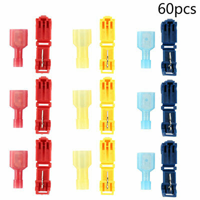 60pc Scotch Lock Connectors Quick Splice Terminals Câble T Câble Scotchlock