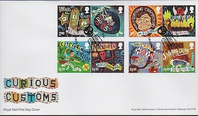2019 - Curious Customs FDC - Derry, Enniskillen - Post Free