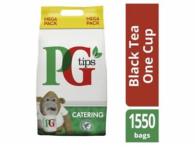 PG Tips 1550 One Cup Catering Tea Bags +Free 24h delivery