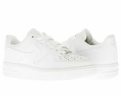 NIKE AIR FORCE 1 (GS) WhiteWhite Big Kids Basketball Shoes