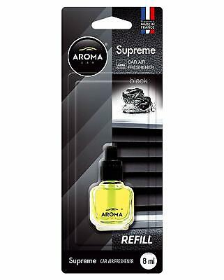 Recharge Parfum Aroma Car Supreme Senteur Black Fabrication Francaise