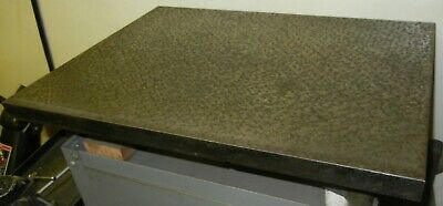 """Cast Iron Surface Plate 18"""" x 24"""" Good scraping with cover excellent condition"""