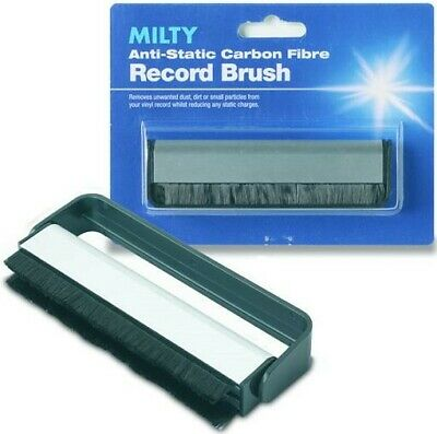 Milty Carbon Fibre Record Brush Vinyl Cleaning Tool Record LPs