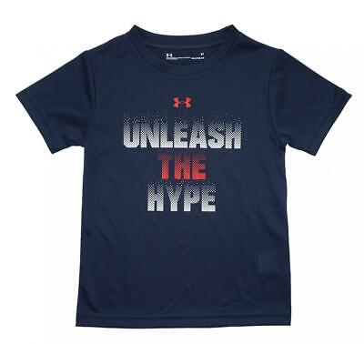 Under Armour Toddler Boys Navy Unleash The Hype S/S Dry Fit Top Size 3T