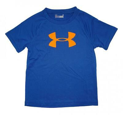 Under Armour Toddler Boys Royal Blue & Orange S/S Dry Fit Logo Top Size 3T