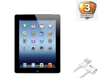 "Apple iPad 3 3rd Gen A1416/A1430 9.7"" 16GB iOS WiFi/Unlocked Black/White WiFi"
