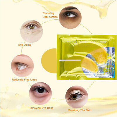24k Collagen Gold Under Eye Mask Gel Anti Ageing Whitening Removes Puffiness UK