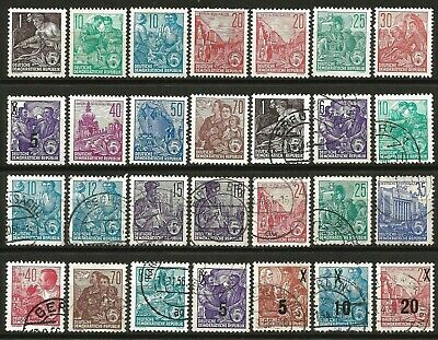Germany (East) DDR GDR 1953-1957 Collection used / Mint Defins 5-Year-Plan #151