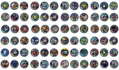 Yokai Medals Series 1 - COMPLETE SET OF 44 MEDALS including legendary - yo-kai