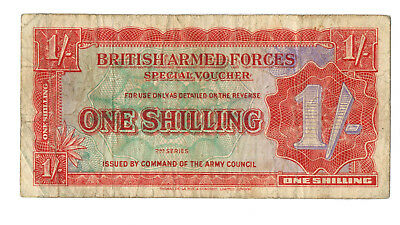2th Series British Armed Forces 1 SHILLING Banknote