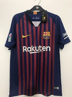 Barcelona Home Shirt 2018/2019 Number 10 Messi New With Tags Size M
