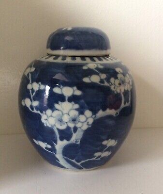 Antique Chinese Porcelain Blossom Prunes Design  Ginger Jar