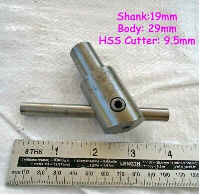 "Nice User Made 3/4"" Shank Adjustable Fly Cutter Milling Lathe & New HSS Tool"