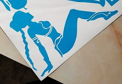 "Star Wars Slave Princess Leia Vinyl Car / Wall Decal Sticker 6x4"" Mud Flap Girl"
