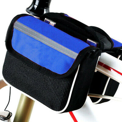 YANHO Outdoor Mountain Bicycle Cycling Top Tube Bag Pouch Holder Black L7H4