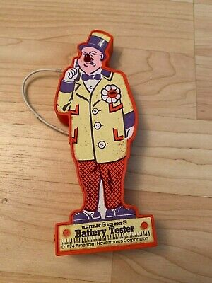 Vintage WC Fields Red Nose Clown Battery Tester Novel Tronics Corp 1974