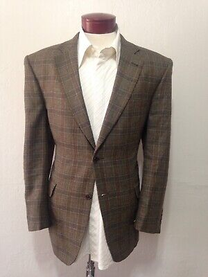 Jos A Bank Signature Collection Olive Plaid Check Sport Coat Blazer H855