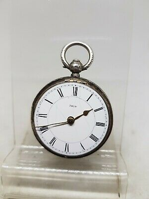 Antique solid silver Chester pocket watch 1895 SPARES ref569