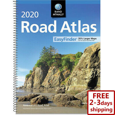 Rand Mcnally USA Road Atlas 2019 BEST Large Scale Travel Maps United States NEW