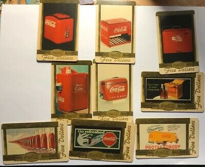 Coca Cola $5 Gold Phone Card Set (missing card 6)