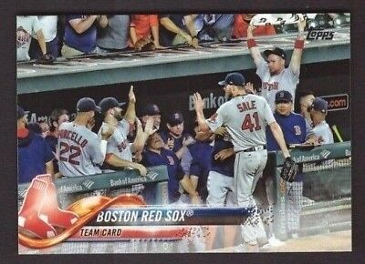 2018 Topps BOSTON RED SOX Team Set Series 1 & 2 w/ Update 32 Cards