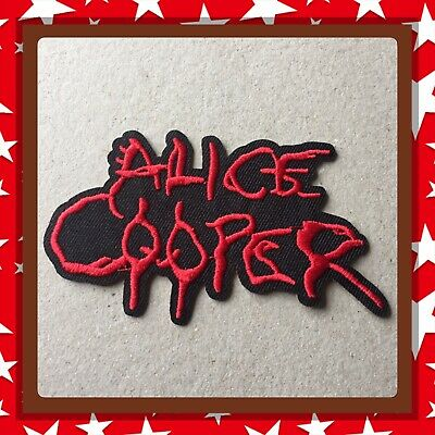 🇨🇦Alice Cooper Logo Rock  Embroidered Patch Sew On/stick On Cloth/new 🇨🇦