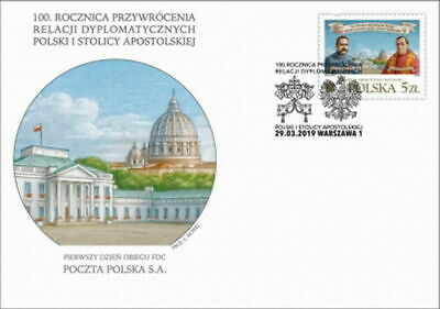 Poland  FDC 2019 anniversary of diplomatic relations between Poland - Vatican