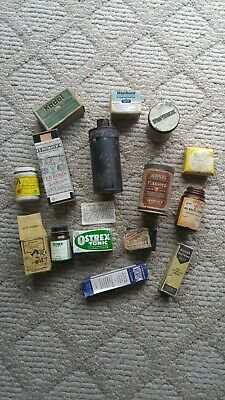 Lot of Antique & Vintage Quack Remedy Cure pill medicine w/ contents Apothecary
