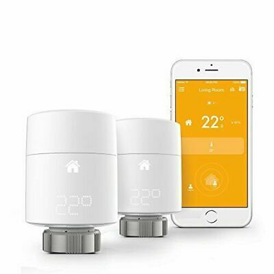 Tado Smart Radiator Thermostat Add-On Kit Vertical Mounting - Duo Pack BNIB
