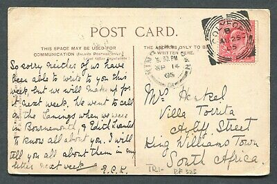 """Great Britain Squared Circle Cancel """"Colyford"""" On Postcard"""
