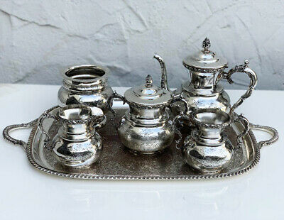 Vintage English Silver plate tea & coffee set 6 pieces