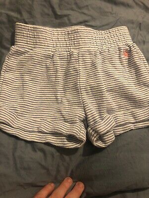 Joules Girls Shorts Blue & White Striped Age 5-6 Years