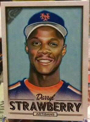Darryl Strawberry 2018 Topps Gallery ARTISANS SP VARIATION Card #170 METS