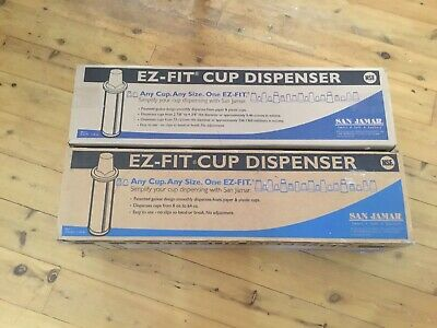 Ez-fit Cup Dispensers X2 New In Boxes Two Gaskets Taken Out Of One Box