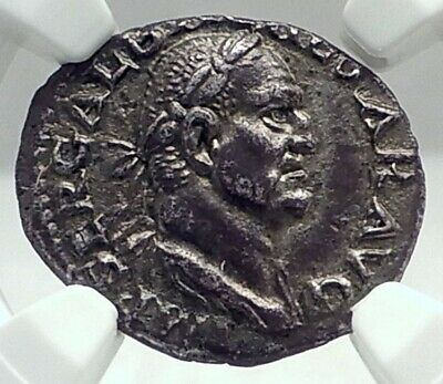GALBA Rare 68AD Rome Authentic Ancient Silver Roman Denarius Coin NGC i79641