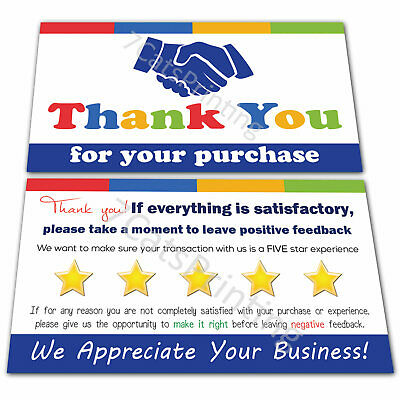 100 eBay Thank You For Your Purchase Cards