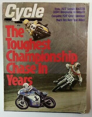 Cycle Magazine January 1977 - Toughest Championship in Years