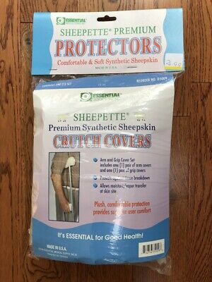 Essential Medical Supply Premium Synthetic Sheepskin Crutch Covers