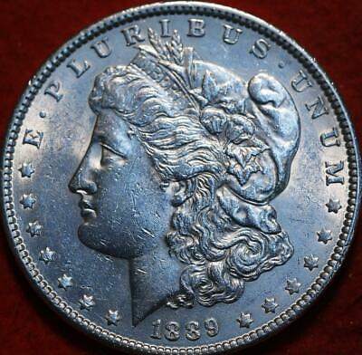 Uncirculated 1889 Philadelphia Mint Silver Morgan Dollar