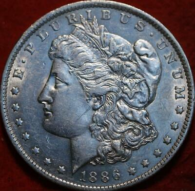 Uncirculated 1886-O New Orleans Mint Silver Morgan Dollar