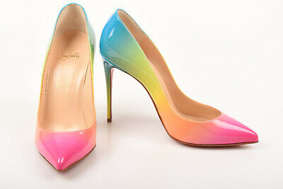 best sneakers 1d519 43958 CHRISTIAN LOUBOUTIN PIGALLE Follies multi 8.5 38.5 rainbow patent pump shoe  $745
