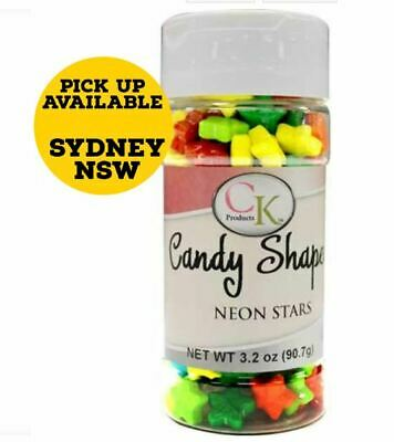 Neon Stars Candy - 90.7gm Assorted Colour Baking Decoration for Supplies
