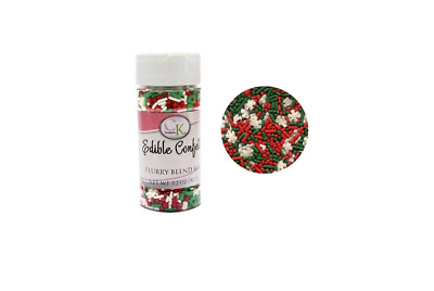 Christmas Flurry Blend Edible Confetti - 85gm Baking Decoration Supplies