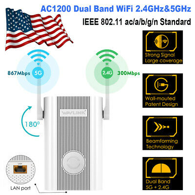 Wavlink AC1200 WIFI Repeater&Wireless Range Extender AP Dual Band 2.4GHz&5GHz HD